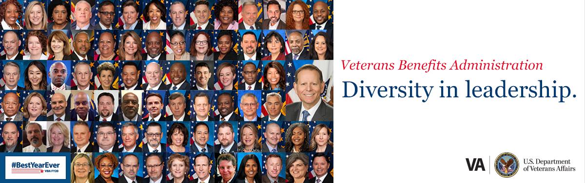 Veterans Benefits Administration diversity graphic